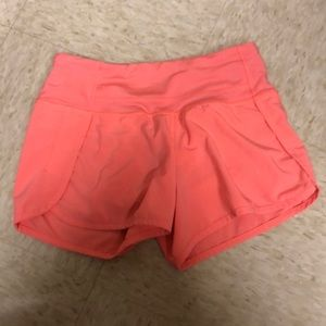 Lulu Lemon speed shorts 4""